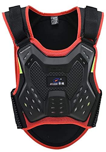 SJAPEX Chaqueta Protección Para Motocross Motos Ropa Protectora Cuerpo Armadura Completo Profesional Motocicleta Deportiva Para al Aire Libre Motocicleta Ciclismo Patinaje Esquiar Orange,L