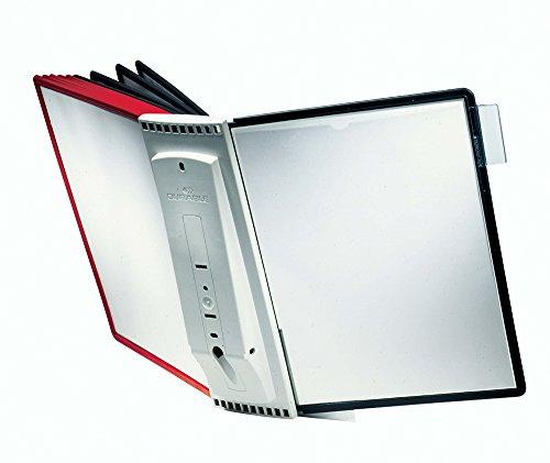 perni integrati DURABLE 558203 confezione da 5 pezzi apertura lato superiore pannello espositivo f.to A4 Sherpa Panel Pin A4 antiriflesso rosso