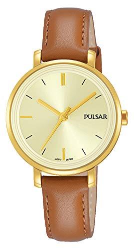 Pulsar Damen Analog Klassisch Quarz Uhr mit Edelstahl Armband PH8364X1