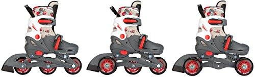 Nijdam 3in1 Hardboot Kinder Inline Inliner Skates Rollschuhe Quads verstellbar