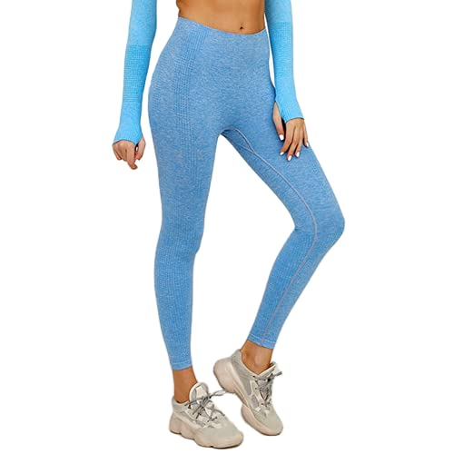 QTJY Leggings sin Costuras para Correr para Mujer, Pantalones de Yoga, Cintura Alta, Ejercicio, Estiramiento, Gimnasio, Celulitis, Leggings B L