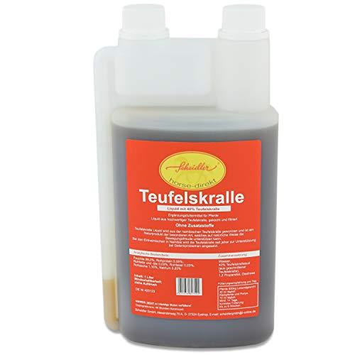 Scheidler horse-direkt Teufelskralle -Liquid- 1 Ltr. Dosierflasche - Naturprodukt für Pferde und Hunde