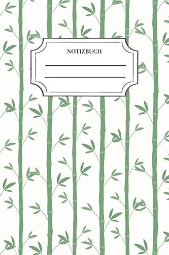 Bambus Notizbuch: Notizbuch Bambus, 120 Seiten, A5, tolle Geschenkidee für Asien Freunde