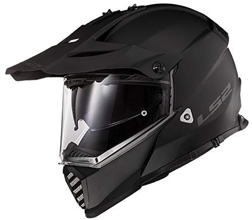 LS2 Blaze Adult Dual Sport Motorcycle Helmet - Solid Matte Black / 3X-Large