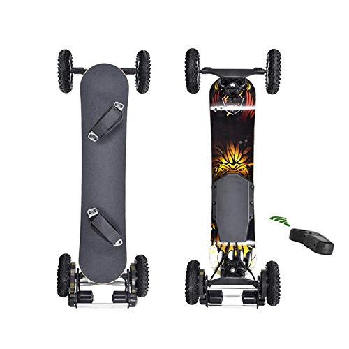 GUOYULIN Skateboard Eléctrico Mountainboard, Longboard Edición Especial Tabla Completa con 20Cm Neumáticos...
