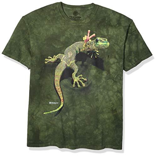 The Mountain Unisex-Erwachsene Peace Out Gecko T-Shirt, grün, Large