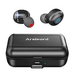 ♫【Écouteurs Bluetooth V5.0 & Réduction du Bruit 】Bluetooth V5.0 assure la connexion plus stable et rapide, le jumelage automatique, l'appel binaural, prise en charge Siri, marche/arrêt,musique lecture / pause, volume + / -, appel, simple et pratique....