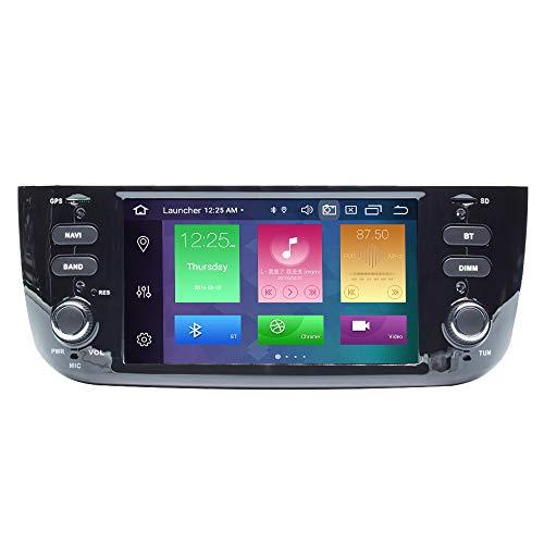 Per Fiat Grande Punto 199 310 Linea 323 2012-2016 Android 10.0 8 Core 4 GB RAM 64 GB ROM 6.2  Car Multimedia Player Supporto GPS Supporto auto Riproduzione automatica TPMS OBD WiFi DAB
