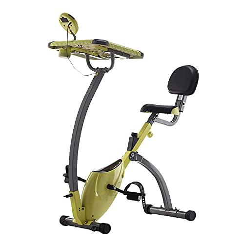 XLAHD Bicicleta estática reclinada magnética para Interior Bicicleta estática con Asiento Acolchado Ajustable y Resistencia, Monitor, Ruedas de Transporte y Soporte para Tableta para Uso doméstico