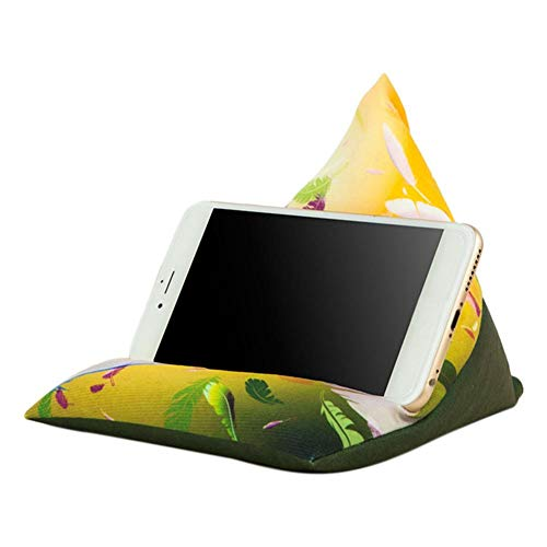 Bloomma Tablet-Handy-Kissenhalter E-Readers Bücher Sitzsack Kissenständer Halter Handy-Aufbewahrungstasche Multi-Winkel-weiches Kissen für Bettboden Schreibtisch Sofa Couch Lesen