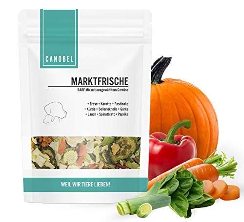 Canobel Marktfrische Gemüse Mix für Hunde als Barf Zusatz I Lebensmittelqualität aus Deutschland I Gemüseflocken, getreidefrei, glutenfrei, Flocken getrocknet, Ergänzungsfutter zum barfen