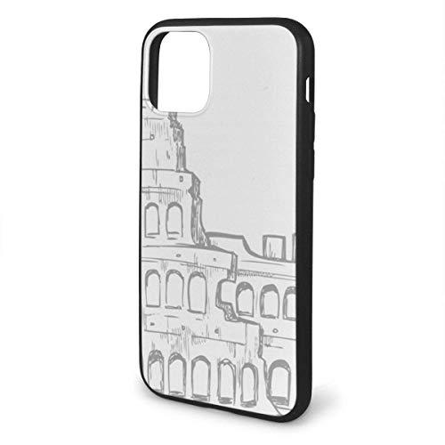 Roman Colosseum Italiaanse Vlag Anti-Scratch Schokbestendig Anti-Vinger Print Flexibele TPU Case voor iPhone 11 Pro Max 2019(6.5