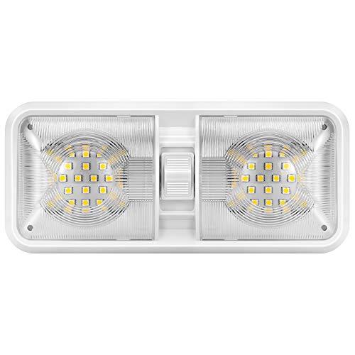 Kohree 12V Led RV Ceiling Dome Light RV Interior Lighting for Trailer Camper with Switch, Natural...