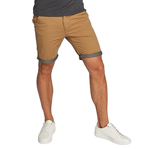 Brave Soul Herren Hosen Shorts Herren-Short Sport-Shorts Kurze Hose Bermuda Sommer Hanson (Stone Beige Braun Chambray, L)