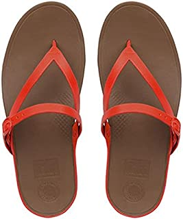 FitFlop Womens Flip Leather Toe-Thong Sandals