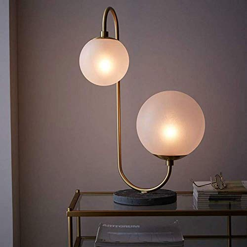 Lámpara De Pie De Cristal De Hierro Creativa Moderna Lámpara De Mesa De Bola Vertical Retro Simple Nórdica Lámpara De Pie Lámpara De Mesa 38 * 55Cm