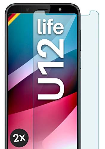 moex Panzerglas kompatibel mit HTC U12 Life - Schutzfolie aus Glas, bruchsichere Displayschutz Folie, Crystal Clear Panzerglasfolie, 2X Stück