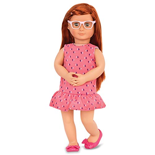"Our Generation by Battat- Sabina 18"" Posable Deluxe Fashion Doll with Book & Accessories- for Age 3 Years & Up"