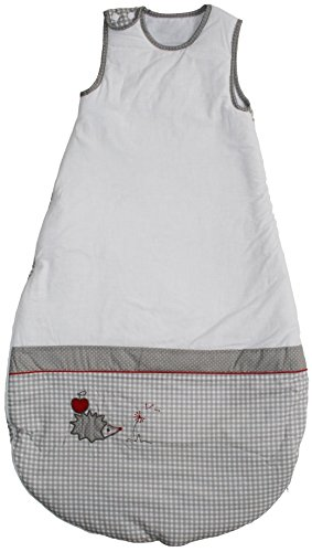 roba Schlafsack, 110cm, Kinderschlafsack ganzjahres/ganzjährig, aus atmungsaktiver Baumwolle, Kleinkindschlafsack unisex, Kollektion 'Adam & Eule'