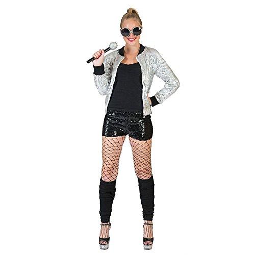 Generique - Silberne Pailletten-Jacke für Damen Einheitsgröße