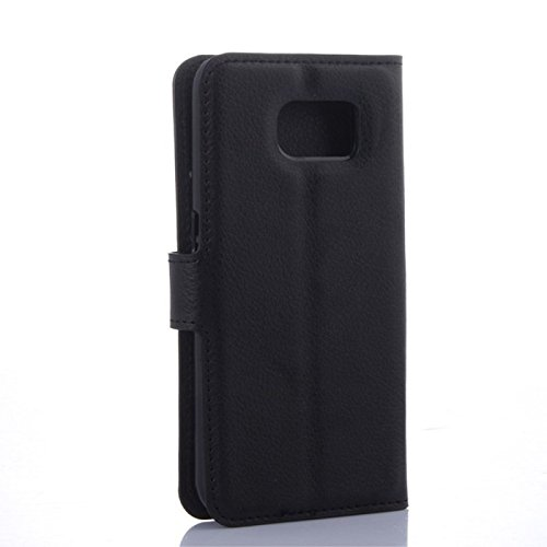 COPHONE® Custodia per Samsung Galaxy S6 Edge Plus , Custodia in Pelle compatibili Galaxy S6 Edge Plus nero. Cover a libro per Galaxy S6 Edge Plus magnetica portafoglio