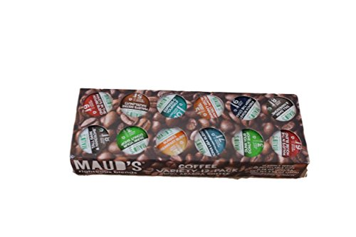 Mauds Righteous Blends Coffee Variety, 12 Count Box, K-Cup,