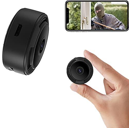 sZeao Mini Camara Espia Oculta Cámara Secreta Micro Camara,1080P HD Cámara Niñera Pequeña Visión Nocturna y Detección de Movimiento Vigilancia Grabadora para Familia,Oficina