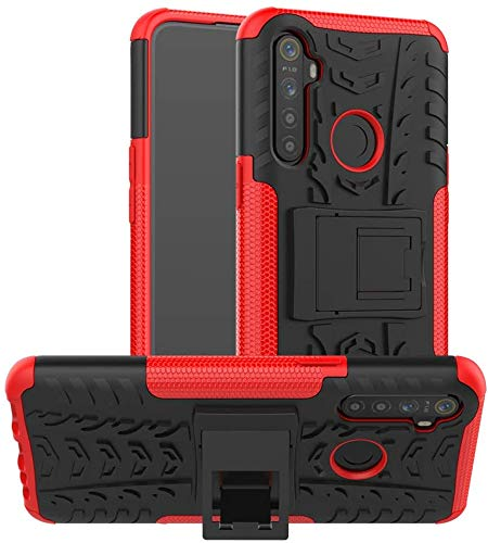 Cassby Back Cover for Realme 5i (Poly Carbonate Red)