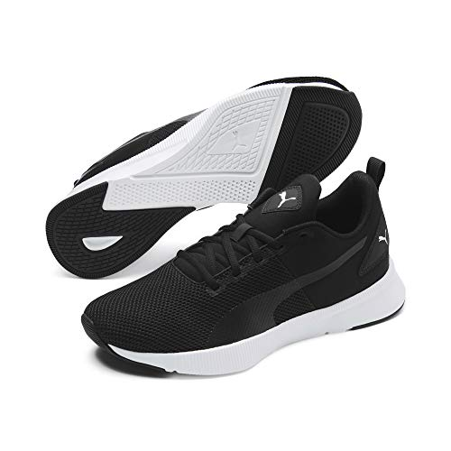 PUMA Flyer Runner, Zapatillas de Correr Unisex Adulto, Black/Black/White, 41 EU