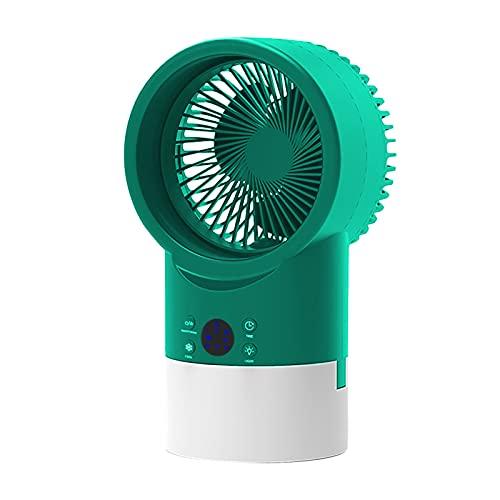 HALIGHT Ventilador Aire Acondicionado Portátil, Enfriador Aire Personal, Mini Ventilador Escritorio Evaporativo, con Luz Nocturna 7 Colores, Ventilador Nebulización con 3 Velocidades