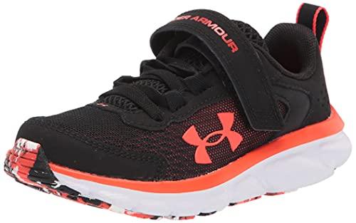 Under Armour boys Pre School Assert 9 Alternate Closure Running Shoe, Black (003 Phoenix Fire, 1.5 Little Kid US