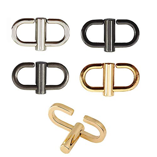 EvaGo 5 Pcs Adjustable Metal Buckles for Chain Strap Bag to Shorten Your Bag Metal Chain Length, Chain Links Tiny Clip for Bag Chain Length Accessories(5 Colors)