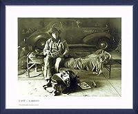 ポスター マーティン・H・M・シュライバー Dave 7am - Ranch 10/81 額装品 ウッドベーシックフレーム(ブルー)