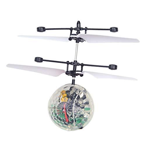 Dolity Mini RC Drone Bola Voladora LED Flash Juguetes Niño Varios Colores Seleccionable - bola de cristal