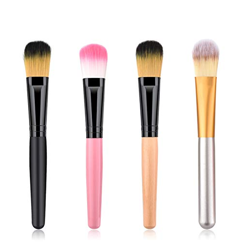 FENXIMEI 4 Stks Make-up Brush Make-up Penseel Wol Foundation Penseel Gezicht Make-up Blush Brush