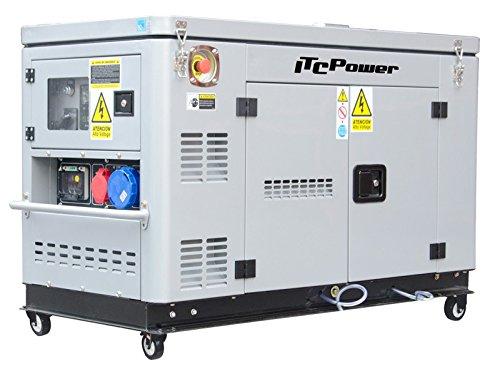 ITCPower, DG12000XSET, Generador Eléctrico Diesel (Full Power)
