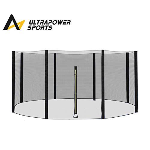 ULTRAPOWER SPORTS Filet de Remplacement de Trampoline, Diamètre 427 cm, Filet de sécurité pour 8 poteaux Droits, Filet Rond