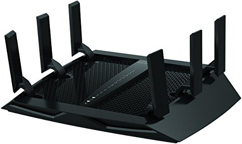 NETGEAR Nighthawk X6 Smart Wifi Router (R8000) - AC3200 Tri-band Wireless Speed (up to 3200 Mbps) | Up-to 3500 sq ft Coverage & 50 Devices | 4 x 1G Ethernet and 2 USB Ports | Armor Security, Black