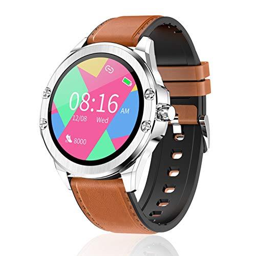 FMSBSC Smartwatch Für Damen Herren, Sport Uhr Fitnessuhr Pulsmesser IP67 Wasserdicht Digitaluhr Mit Kalorien Schlafmonitor, Fitness Armband Kompatibel Mit Ios Android,Braun