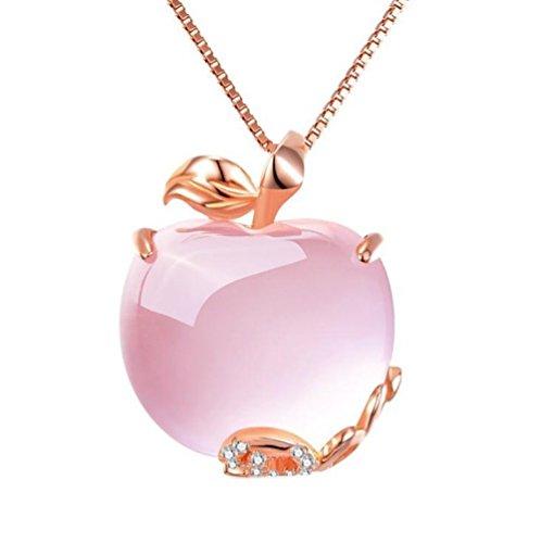 AIUIN Collana da Donna alla moda collana Amethyst anhaengerit cristalli Idea Regalo per Ragazza Donna Gioielli, con una borsa di gioielli (1)