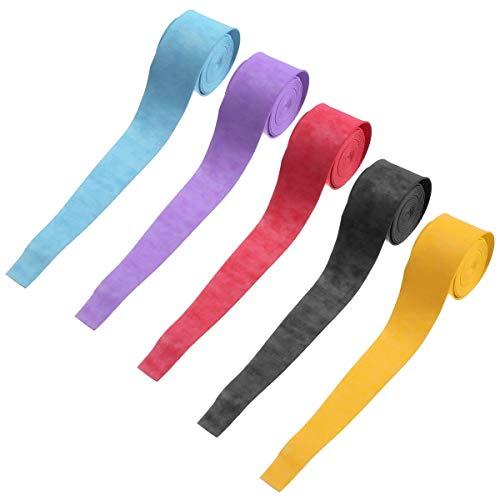 N\A Nastro Adesivo, Racchetta di volano del Nastro della Presa Squash Tape 25 × 1.100 × 0.75mm Anti Slip Racchetta da Tennis Nastri Grip (Colore : Yellow)