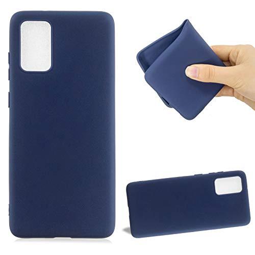 Cestor Silikon Handyhülle für Galaxy A81,Weich TPU Einfarbig Hülle für Samsung Galaxy A81,Niedlich Ultra Dünn Flexibel Gel Anti-Kratzer TelefonKasten Vollkörperschutz Schutzhülle,Dunkel Blau