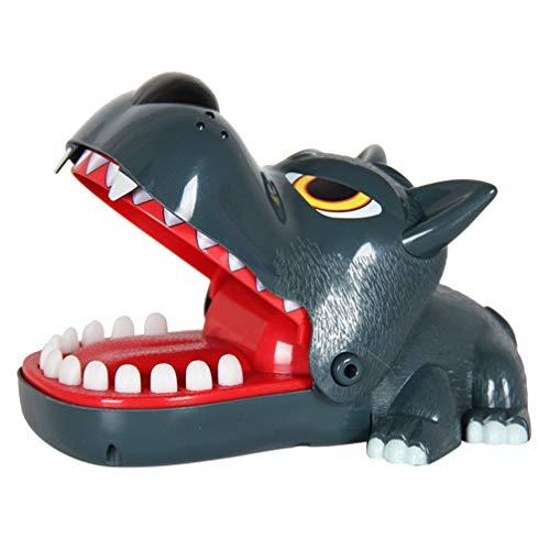 NUOBESTY Wolf Beißen Finger Spiel Klassische Zahnarzt Spiele Lustiges Spielzeug Krokodil Zähne Spielzeug für Kinder Parteibevorzugungen