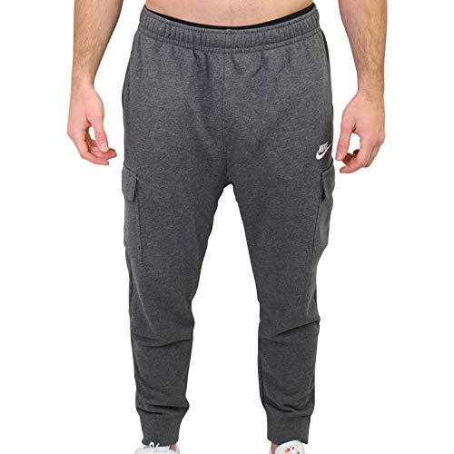 Nike NSW Club - Pantalones cargo de forro polar para hombre, color gris, talla XL