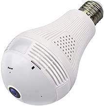 UKONM - Bombilla IP para cámara de Fotos (360 Grados, Interfaz E27), fácil de Instalar, detección de Movimiento de Audio, controlada para el hogar