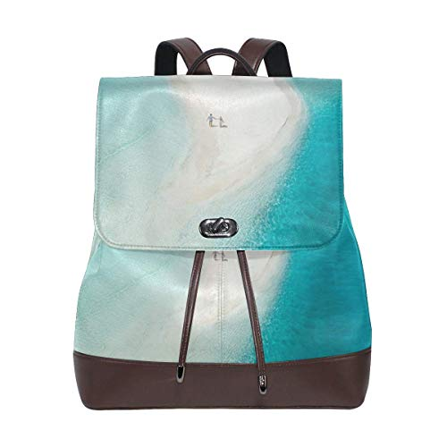 Flyup Leather Backpack Couple Beach Maldives View Women