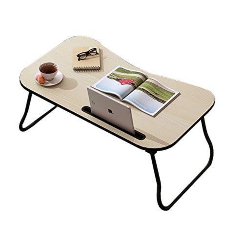 Opvouwbaar Desk Huiscomputer Stand Laptop Notebook Bureau Laptop Lijst for slaapbank studying (Color : Beige)