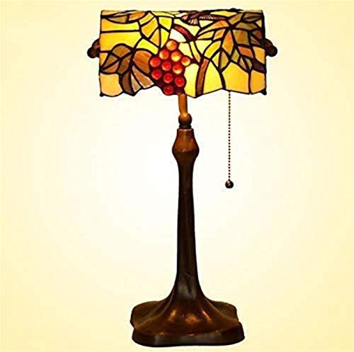 Lámpara de escritorio, de estilo europeo jardín de cristal decorativa de la uva de mesa Lámpara de estilo europeo clásico Ojo trabajo Lámpara de mesa for la Oficina de Protección del hotel Sala