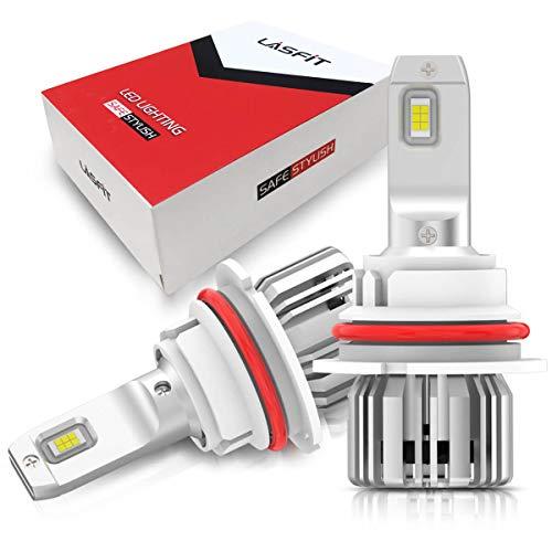 LASFIT 9004/HB1 LED HED Headlight Bulbs, 6000K Super Bright LED Hi/Lo Dual Beam Conversion Kit, Upgrade Mini Size Plug and Play