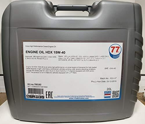Motor Oil HDX 15w40 20lt